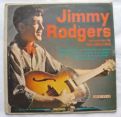 LP Vinyl Record  Jimmy Rodgers and the Limeliters  Guest Star  Records 1959