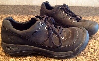 Keen Mens Black Leather Casual Oxfords Shoes size 11 M 44-5 EU