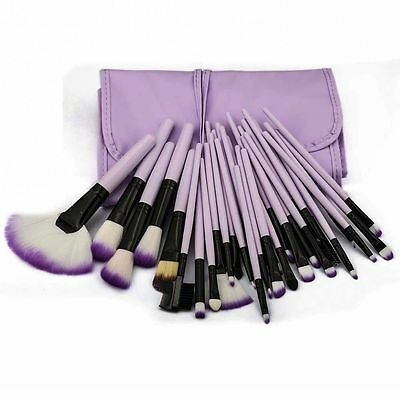 32 Pcs Professional Soft Cosmetic Eyebrow Shadow Makeup Brush Set Kit Pouch Case