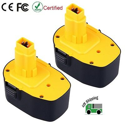 2 Pack New Ni-CD 14-4V 3-0Ah Battery for Dewalt DC9091 DW9094 DW9091 Power Tool