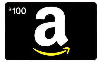 Amazon 100 Gift Card  Regular U-S- Mail Delivery Only