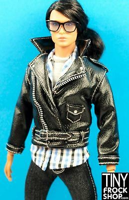 Ken and 13 Male Integrity Doll Avastars Black Faux Leather Motorcycle Jacket