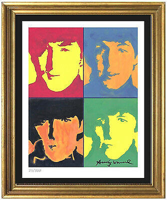Andy Warhol SignedHand-Numbered Ltd Edtion The Beatles Litho Print unframed