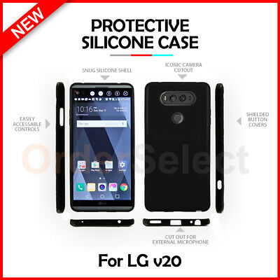 HOT Genuine Ultra Slim Protector Candy Glossy Phone Case Cover for LG V20 Black
