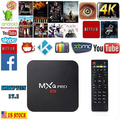 MXQ Pro S905X Smart OTT TV BOX Android 6-0 Quad Core 4K HDMI KD 17-1 DLNA WiFi