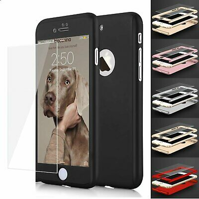 Ultra Thin Slim Hard Case Cover For Apple iPhone 6  7  8 Plus - Tempered Glass