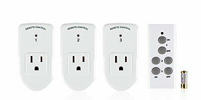 BN-LINK Wireless Remote Control Outlet Switch3 Remote Sockets -1 Remote Control