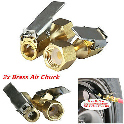 2pcs Open Flow Straight Lock-On Air Chuck with Clip for Tire Inflator Newest