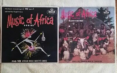2 Music of Africa series records- 10 in 33 in 13