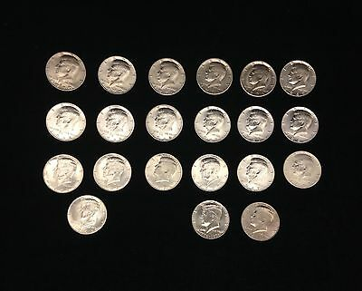 Collection of Kennedy Half Dollar Silver Coins - Lot of 20