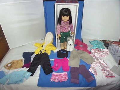 HTF LOT American Girl Retired IVY Doll w Original box - Lots of AG Clothing