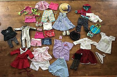 Huge lot of authentic original American girl doll clothes shoes accessories