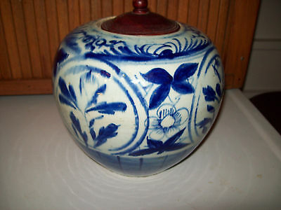 Antique Vintage Chinese blue and white porcelain Ginger Jar  19th Century   8