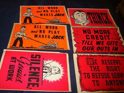 VINTAGE 5 x 8 ADVERTISING DECALS  1950s LOT OF 6