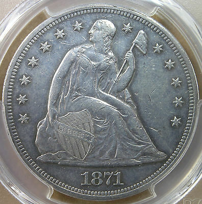 1 1871 Liberty Seated Dollar PCGS AU Details  AvenueCoin
