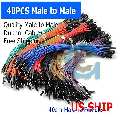 a4 40pcs 20cm Male to Male Dupont Wire Jumper Cable for Arduino Breadboard