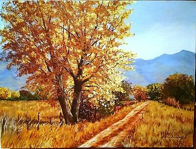 RUTH GIDLEY Original Landscape Painting on Canvas 24 x 18 Signed