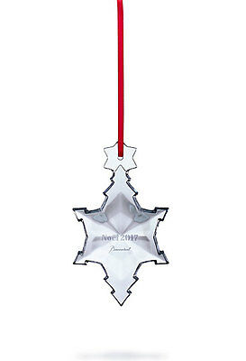 Baccarat 2017 Item 2811189 Annual Snowflake Ornament Clear