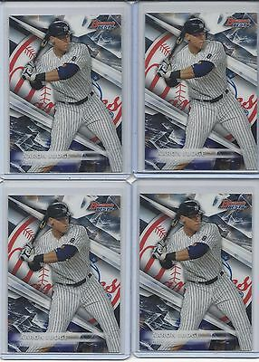 Aaron Judge 2016 Bowman Best Lot of 4 Rookie RC