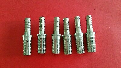 Stainless Splicer 38x14 Barb-Lot of 6-
