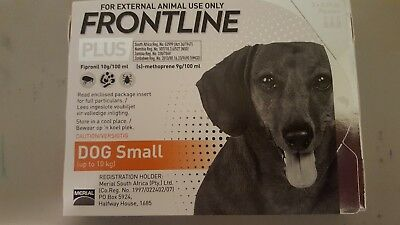 Merial Frontline Plus Orange For Small Dogs 0-22 lb 2-10 kgs 3 pack