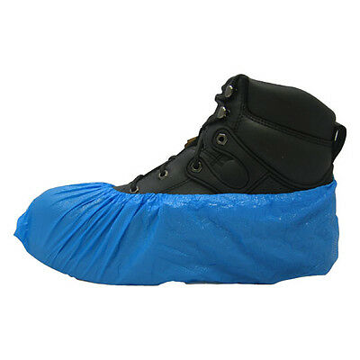 Carpet Clean HVAC Disposable Blue Polyethylene Shoe Covers Size XLarge 1000CS-