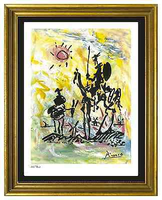 Pablo Picasso SignedHand-Numbered Ltd Ed Don Quixote Litho Print unframed