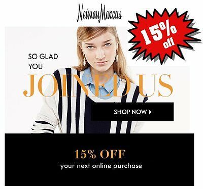 Neiman Marcus 15 Off Coup0nCode Quick Same Day Delivery Exp 10192017 FAST
