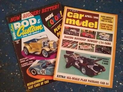 LOT OF 2 VINTAGE Car Model magazines Rod and CustomFree Shipping-
