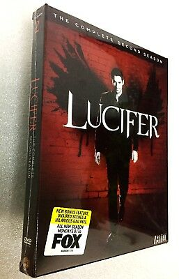 Lucifer The Complete Second Season 2 DVD 2017 3-Disc Set Brand New