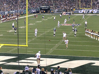 New York Jets vs- Miami Dolphins 92417 2 Aisle Tickets Section 149 Row 20