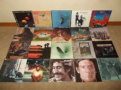 Lot of 20 Classic Rock Vinyl LP Record Albums from the 1970s