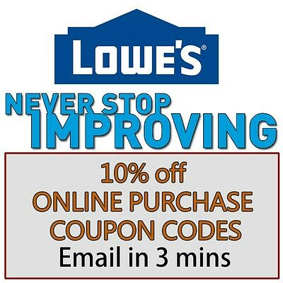 One 1x  Lowes 10 Off Online Use Only Discount- expires 103117