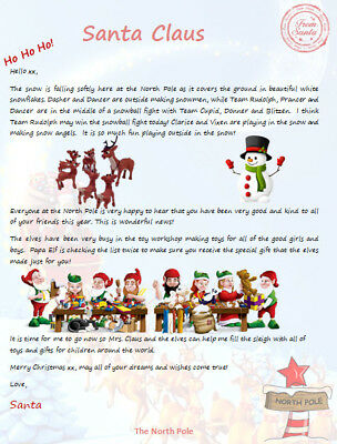 Personalized Letter from Santa - Personalized Coloring Pages