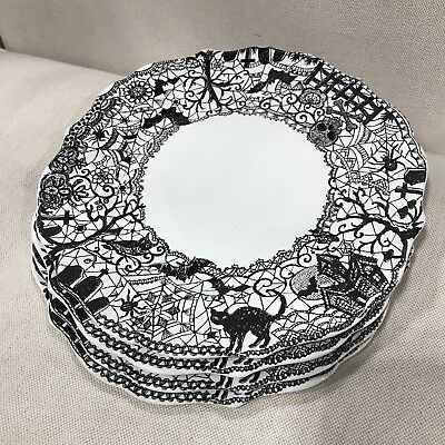 8 222 Fifth Wiccan Lace Halloween Dinner Plates NEW