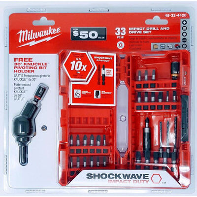 Milwaukee 48-32-4426 33pc Shockwave Impact Drill and Drive Set New