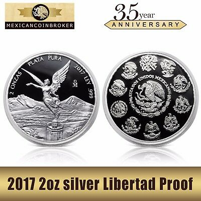 2017 2oz Silver Libertad Proof  Treasure Coin of Mexico™