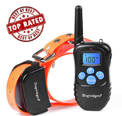 Dogwidgets Remote Dog Training Shock Vibration Sound Collar Rechargeable
