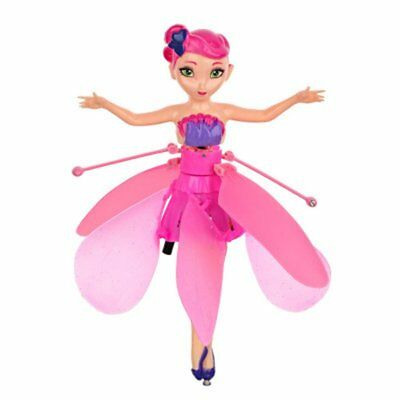 Pink Flying Fairy Doll Hand Infrared Induction Controlled Dolls Flying Toy