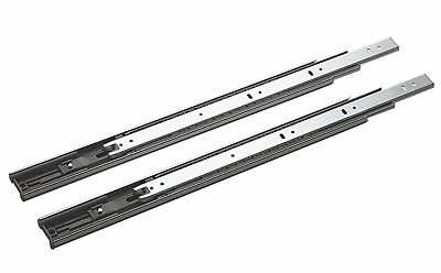 Side Mount Ball Bearing Telescope Drawer Slides  Slider  Full Extension 100-lb
