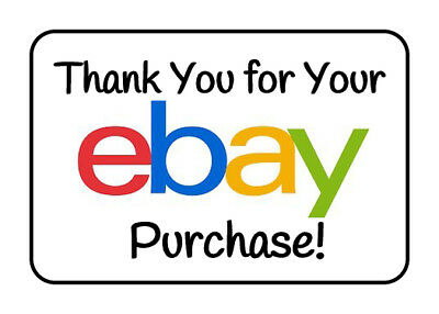 NEW 100 GLOSSY Seller Thank You for Your Ebay Purchase Rectangle StickersLabel