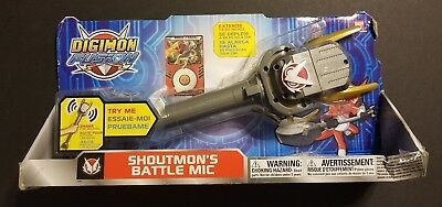 Bandai Digimon Fusion Shoutmons Battle Mic wSounds Extends up to 20 2013 NEW