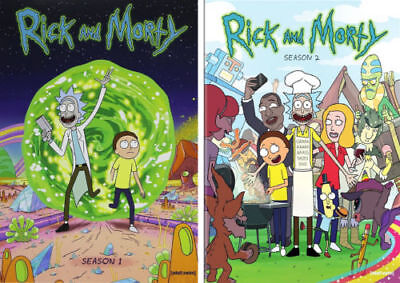 Rick and Morty The Complete Series Season 1- 2  4 disks DVD NEW