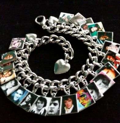 ELVIS PRESLEY Photo Charm Bracelet Remembrance