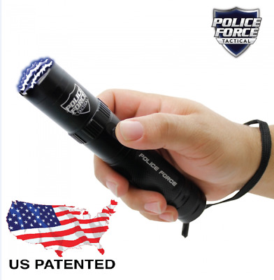 Tactical STUN GUN Police Force 9200000 5 mode Flashlight holster included