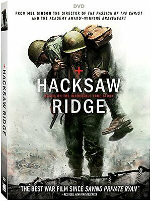 Hacksaw Ridge DVD 2017 INCLUDES SLIPCOVER - FAST SHIPPING