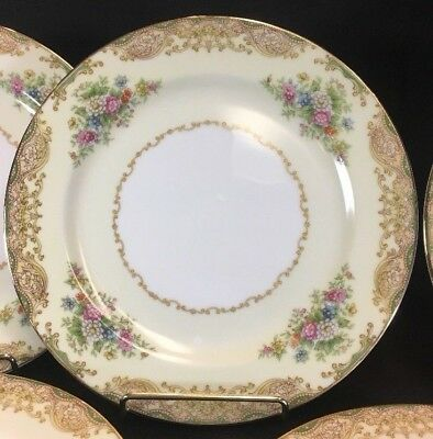 Noritake Mystery Pattern 177 - 7 12 Salad Plates - Excellent 7 Available