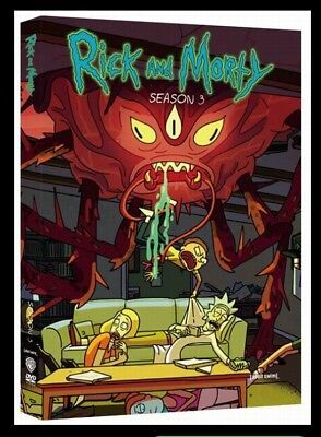 Rick and Morty Season 3  The Complete 3rd Season  DVD 2017 2 Disc New sealed