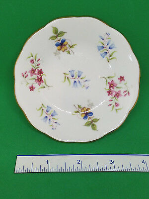 Royal Grafton Fine Bone China 4 Floral Dish Keys Pins Teabag Holder VTG