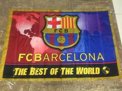 FC BARCELONA FLAG 3 X 5 FT  THE BEST OF THE WORLD OR CLASSIC BANDERA DEL BARSA